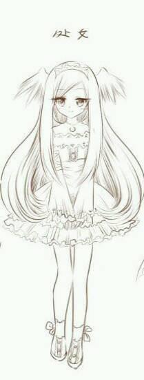 十二星座少女简笔画_十二星座动漫公主图片
