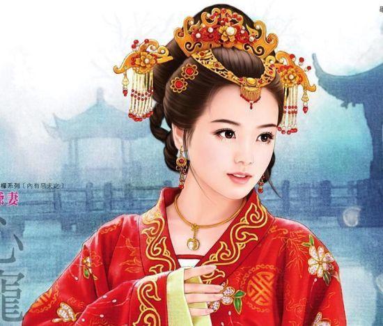 古代美女的唯美丹青图片