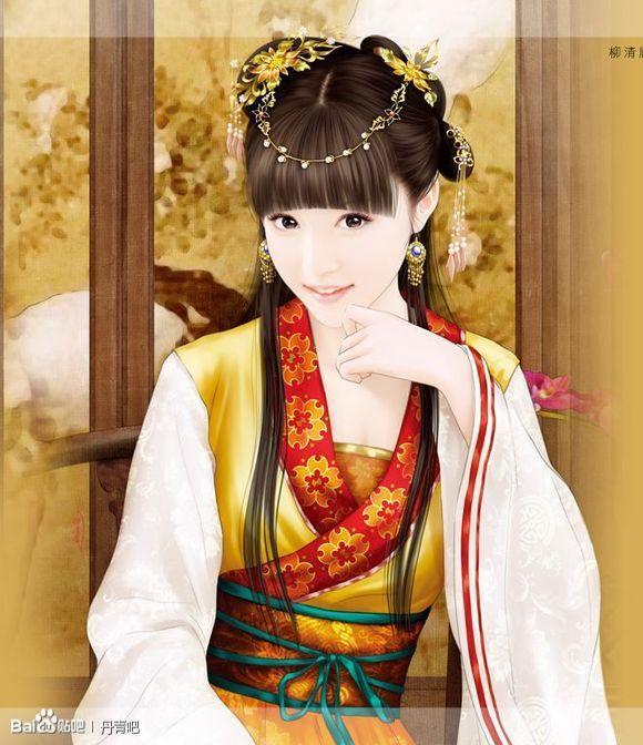 古代美女的唯美丹青