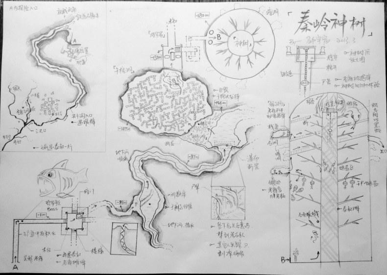 【失忆】上海大学生手绘《盗墓笔记》全套地图