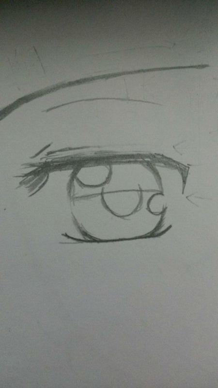 水笔手绘眼睛教程