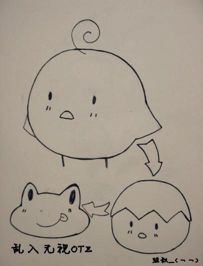 拟人化动物简笔画