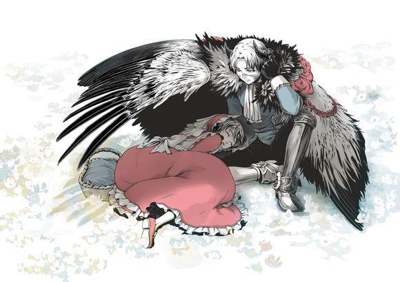 黑羽�����f�x�_【黑羽】【授权转载】卖花的艾伦与魔王兵长单幅漫