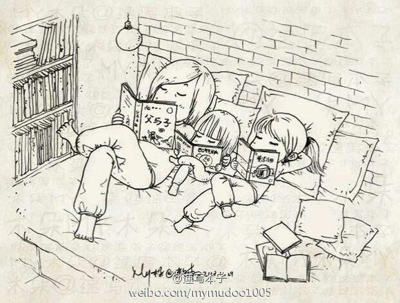 【惟亦】「一个爸爸画给女儿的画.」