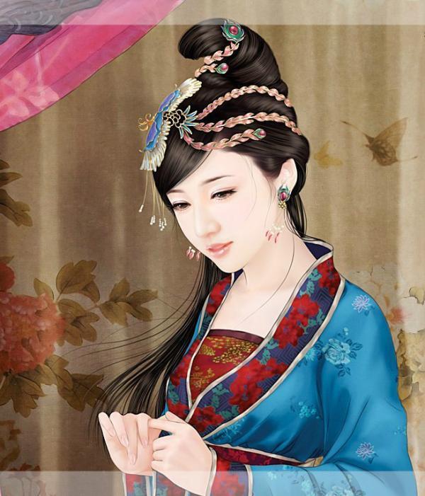古代女子丹青图 只要喜欢