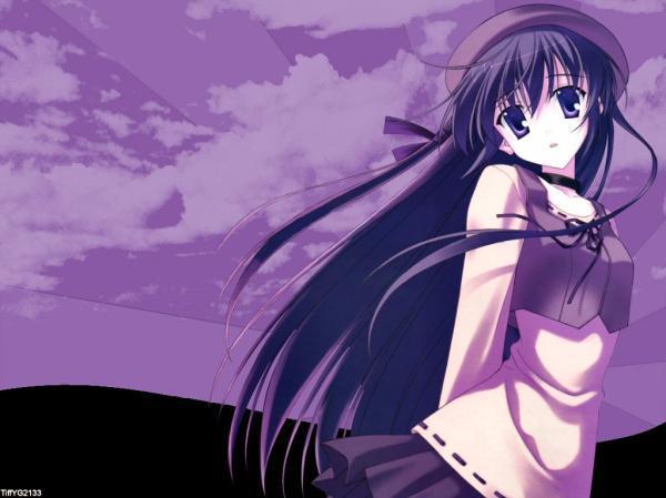 盘点那些动漫里的紫发美少女们