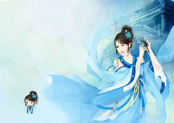 美腻的古代美女手绘,求抱走。_星座圈_百田网