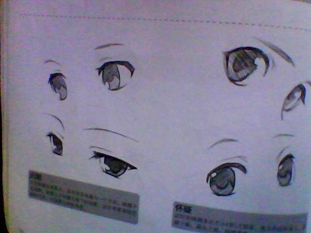 【玫瑰】各种眼睛,眉毛画法