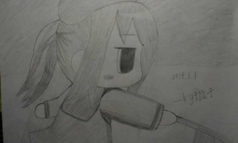 手绘萌宠铅笔画