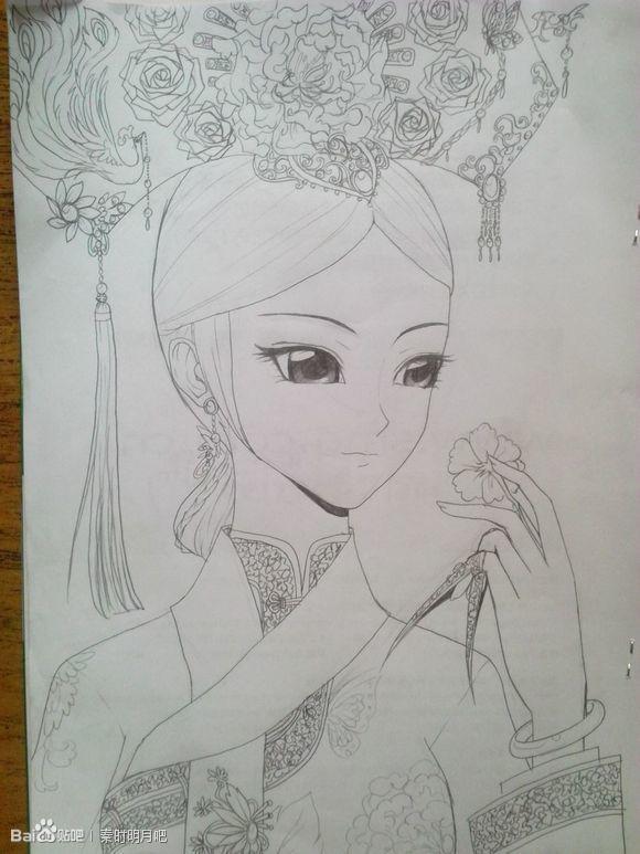 【七凉】手绘古风美女~走过路过不要错过