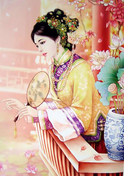 古风美女手绘皇后
