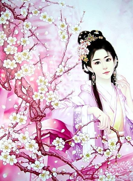桃花美女古风壁纸