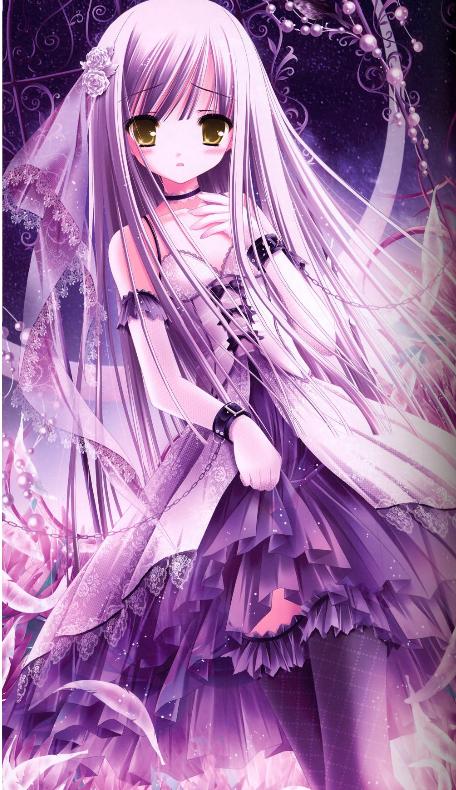 动漫唯美风景图片粉紫色