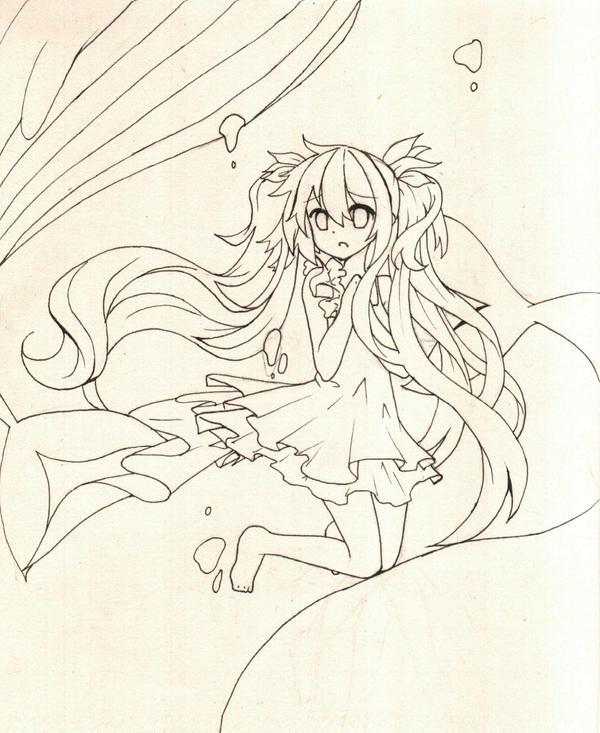 【手绘】初音未来 深海少女