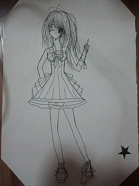 【哭久】漫画少女画法 不爱勿喷