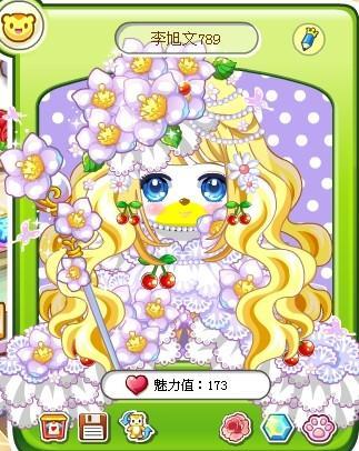 樱桃公主婚纱装 淡紫点点 水瓶婉转守护妆=1多多卡