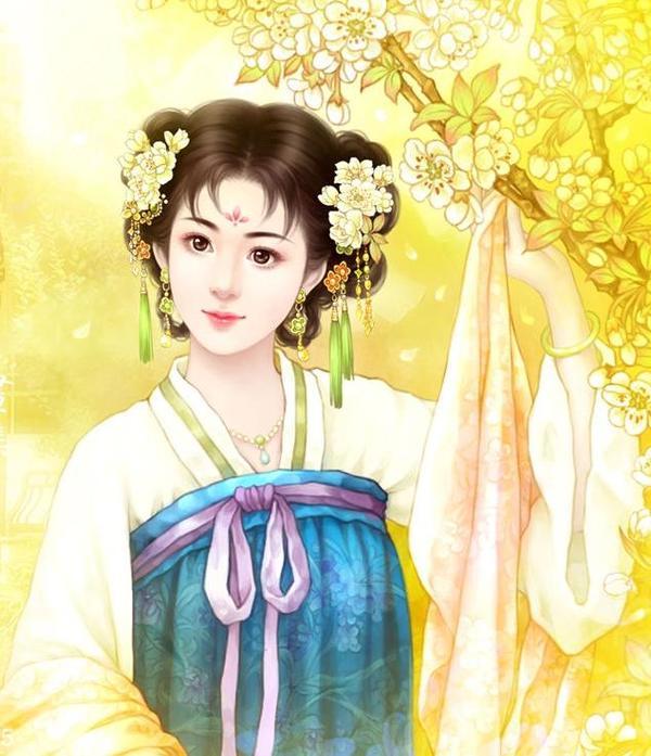 【花细】古装美女的额头花细_百田后宫圈