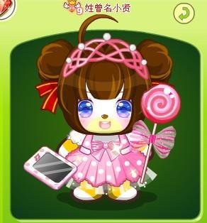 可爱的小公主在吃棒棒糖