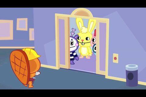 哑剧等小伙伴已经走进电梯了