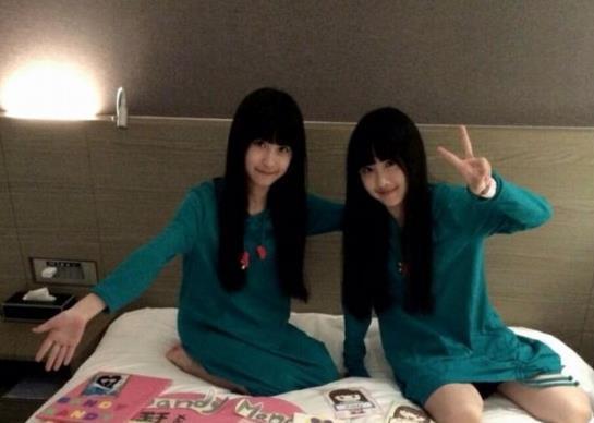 【紫陌】台湾超萌双胞胎姐妹花长成美少女