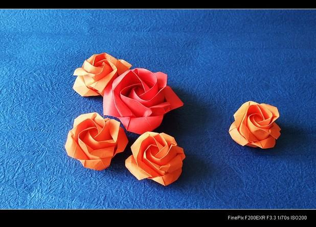 樱桃的花折纸步骤