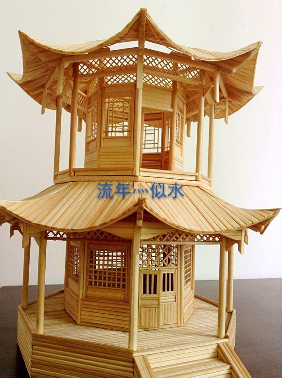 [青黎]竹签琉璃塔教程