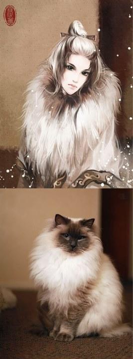 【野猫】美腻腻的动物拟人图qvq