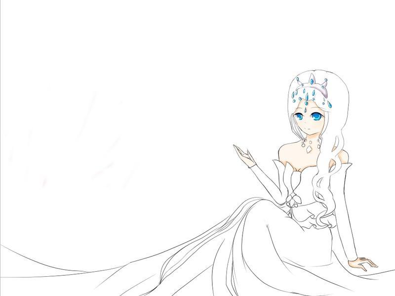手绘头像简约女王