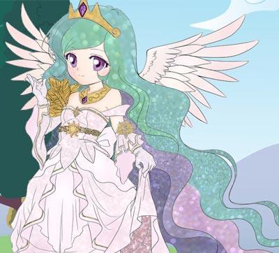 紫悦公主简笔画步骤