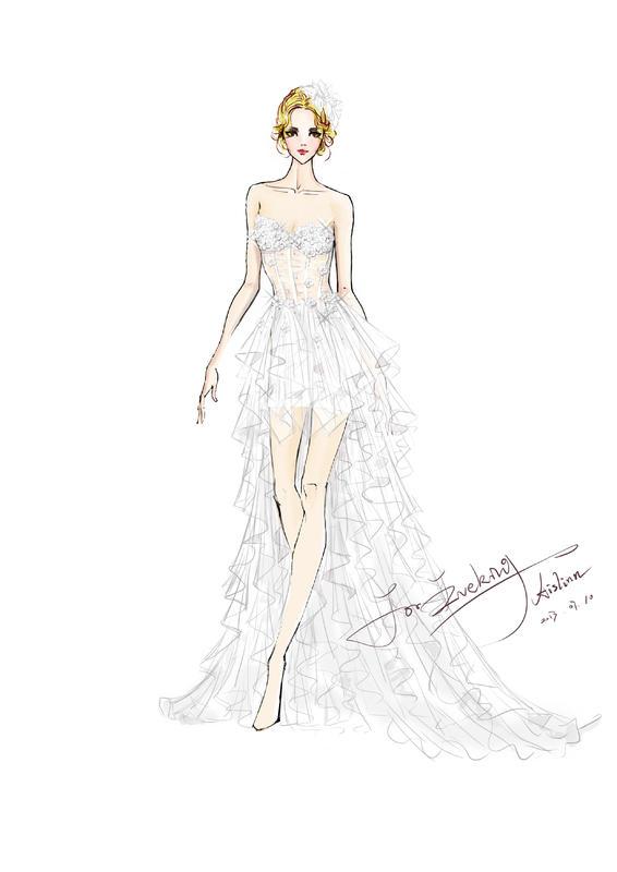 【木槿】超美的手绘晚礼服