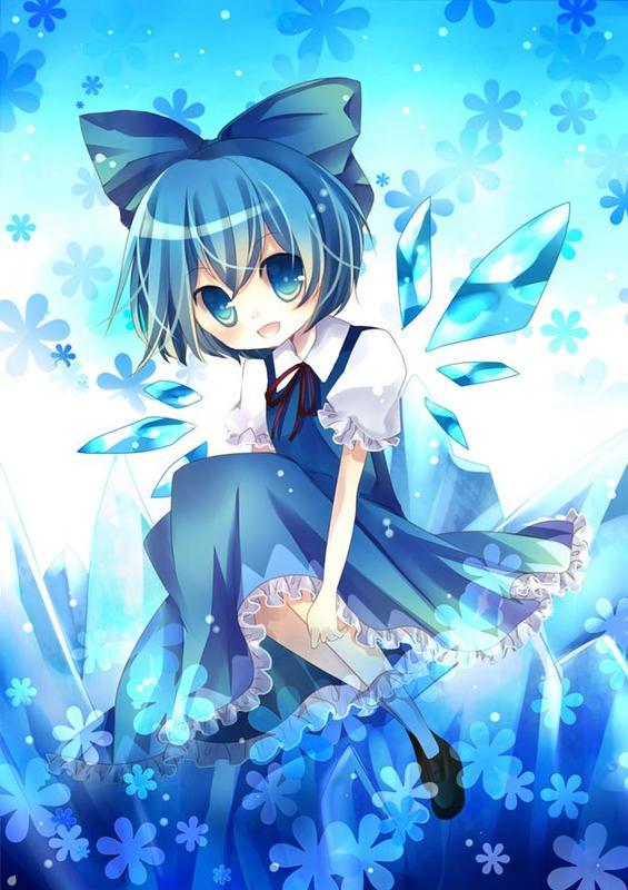 【小雪花】蓝色系唯美动漫美图ww