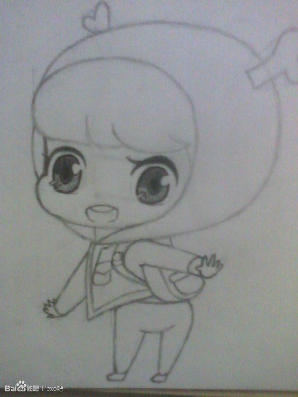 【茶子】exo|教你手绘exo卡通版