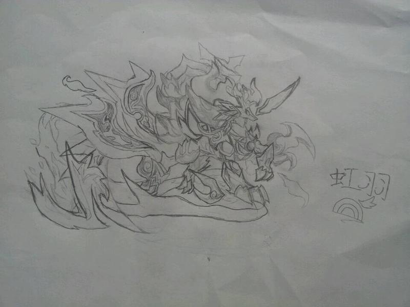 麒麟素描简笔画
