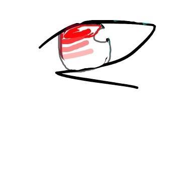 眼睛展台手绘图